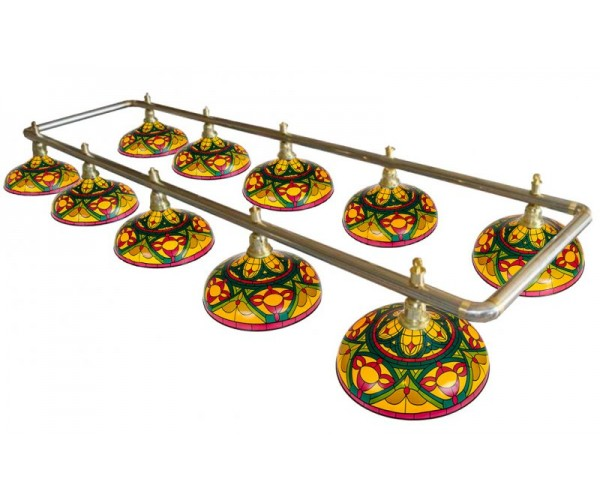 Лампа на десять плафонов «Colorful»