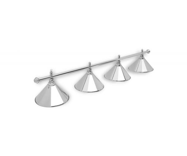 Светильник для бильярда Prestige Silver 4 (четыре) плафона