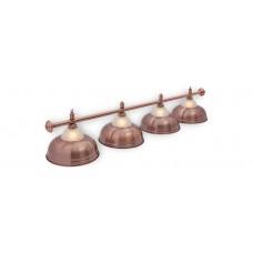 Светильник для бильярда Crown Red Bronze 4 (четыре) плафона