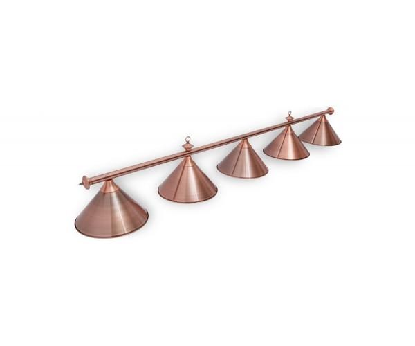 Светильник для бильярда Marseille Red Bronze 5 (пять) плафонов