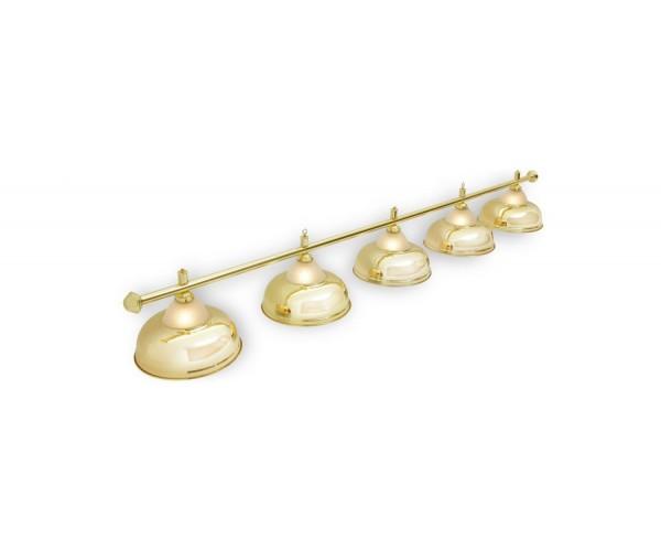 Светильник для бильярда Crown Golden 5 (пять) плафонов