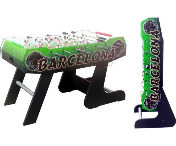 """Игровой стол - футбол """"Barcelona"""" (138x72x86, цветной, складной)"""