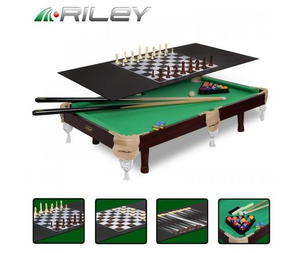 Игровой стол-трансформер Рилли (Riley) Пир/Пул3фута 4в1аксессуары