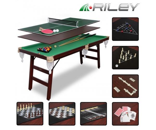 Игровой стол-трансформер ПионерПир/Пул 6 футов 9 в 1 + комплект аксессуаров