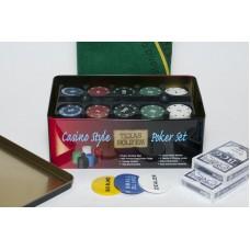 Набор для покера Holdem Light на 200 фишек без номинала