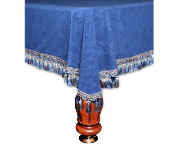 Покрывало Вена 10 футов велюр синее