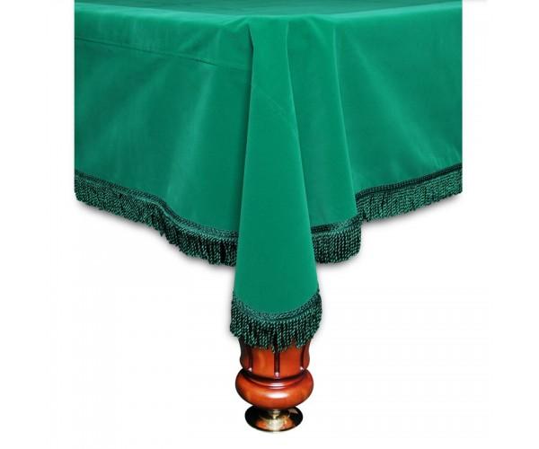 Покрывало Честер 10 футов вельвет зеленое/зеленая бахрома