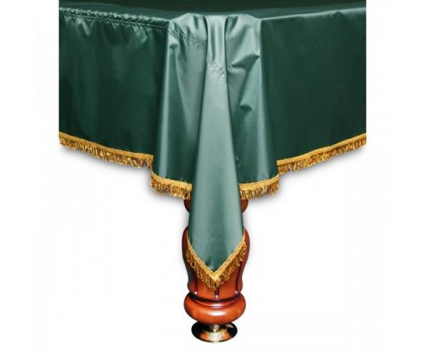 Покрывало Элегия 9 футов влагостойкое зеленое/желтая бахрома