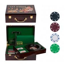 Подарочный набор для покера на 100 фишек + рулетка