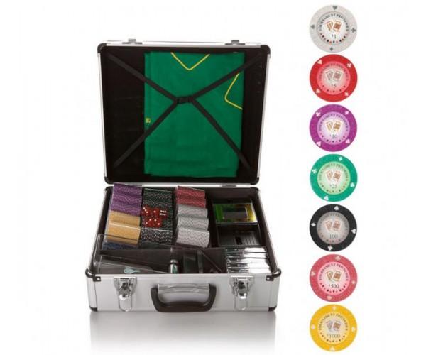 Набор для игры в покер и блэк-джек Tournament на 600 фишек